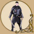 LARP Leather Armor Set - Albrecht Set Black